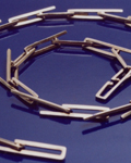 A Sterling Silver square link chain by Architect and Jeweller, Robyn Booth