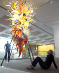 Palm Springs Art Museum. Chihuley glass sculpture