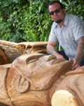 Marcus Thorn Tiki Carving