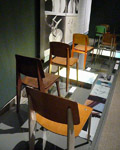 London. exhibition of Jean Prouve Chairs