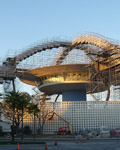 Los Angeles. LAX Theme Building 1961. 'Encounter Restuarant' during restoration 2009